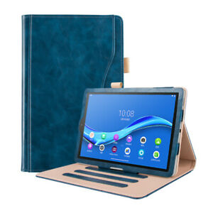 Navy Blue Luxury Case Cover & Stylus for Lenovo Tab M10 Plus FHD Tablet