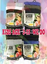 12 Pairs Kids Boys Classic Sports Children's Boxer Shorts Youth Underwear Briefs