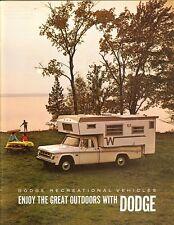 1969 Dodge Recreation Vehicles Pickups Campers Vans Motor Homes Sales Brochure