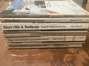 Lot of 8 North and South Dakota Telephone Directories/Books