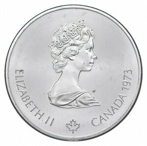 1973 $10 Canadian Canada Olympic Silver Coin *479