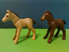 PLAYMOBIL LOTE FIGURAS 2U POTROS POTRO HORSE WESTERN OESTE CABALLOS CABALLO