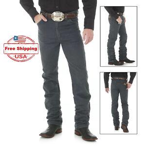 38x36 Wrangler Cowboy Cut 936 Slim Fit Western Denim Jeans, Charcoal Gray