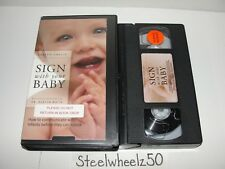 Sign With Your Baby VHS Joseph Garcia 2002 Infant Child Communicate Before Speak
