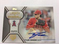 Tyler Skaggs 2019 Topps Legacy of Baseball 150 Years Auto 95/150