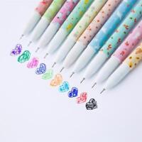 10Pcs Set Flower Gel Pens Kawaii School Office Supplies Stationery Cute Gifts