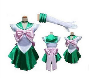 Sailor Moon Kino Makoto Jupiter Sailor Uniform Dress Cosplay Costume Outfit