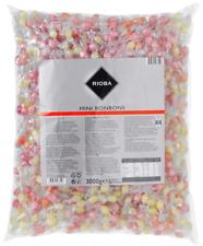 (1000g=5,00�'�) Rioba Mini Bonbons 1760 Stück 3 kg Fasching Wurfmaterial Kamelle