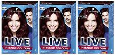 Schwarzkopf LIVE Intense 047 Plum Perfection Pro Permanent Hair Colour Dye x 3