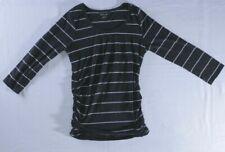 Motherhood Maternity Black Side Shirred T Shirt   Size Small