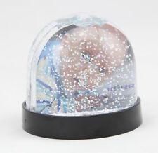 Schwarze Schneekugel 9x8 cm Bilderrahmen Fotokugel Glitzer Kugel Snow Globe