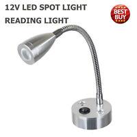 12V Switch LED Spot Reading Light 6000K Caravan VAN Boat Motorhome  Warm Light