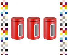WESCO 321206-02-3 Set Vorratsdose Classic Line Rund ROT Keksdose Kaffeedose