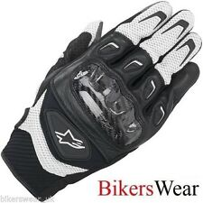 Alpinestars Men's SMX-2 AIR CARBON Black/White Short SUMMER Motorcycle Gloves