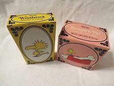 RARE VINTAGE 1965 & 73 WOODSTOCK SOAP DISH BRUSH & COMB PEANUTS AVON W/ BOXES