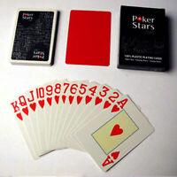 Jumbo Index Poker 100% PLASTIC Deck Spielkarten Poker ,pro. E8O0 Casino Sta J7U6