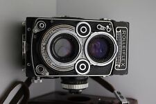 Rolleiflex DBP 3.5F DBGM 3.5F Model 1 Medium Format TLR Camera + Carl Zeiss 75mm