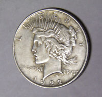 1922 Peace Silver Dollar Circulated Philadelphia Mint