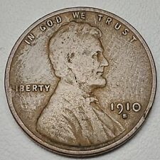 1910-S 1C BN Lincoln Cent-FINE Free USA Shipping-FN