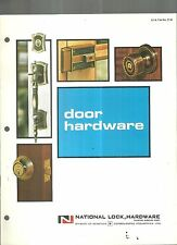 National Lock Hardware Door Hardware Catalog
