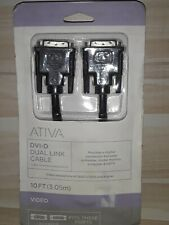 Ativa DVI-D Dual Link Video Connector Cable 10 Ft Male/Male