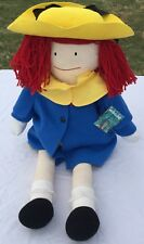 Vintage Madeline Eden 33� Plush 1990 Doll W/Clothes & Tags Large Stuffed Toy