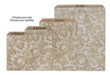 LACE KRAFT Design Print Flat Paper Merchandise Bags Choose Size & Package Amount