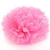 2X Tissue Paper Pompoms Pom Poms Flower Balls Fluffy Wedding Party Decoration
