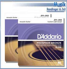 D'Addario Gitarren- & Bass-Saiten für Westerngitarren