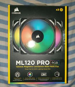 Corsair ML120 PRO RGB 120mm Premium Magnetic Levitation Case Fan - Triple Pack