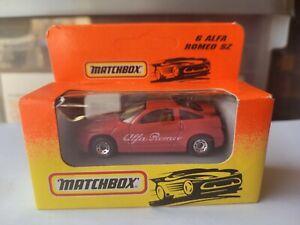 MATCHBOX - ALFA ROMEO SZ [RED] CAR NEAR MINT VHTF CARD GOOD COMBINED POSTAGE