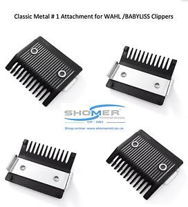 Wahl Classic No.1 3mm Clipper Guard Comb Metal Back Skin Fade Barber Shop NEW UK