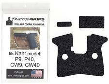 TractionGrips rubber grip tape overlay for Kahr P9, P40, CW9, CW40 pistol grips