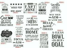 Toilet quotes funny stickers decals bathroom wall tiles toilet seat home