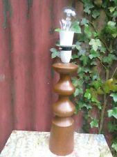 Vintage Solid Wooden Turned Bedside /  Table Lamp