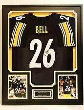 LEVEON BELL, #26 PITTSBURGH STEELERS, AUTOGRAPHED FRAMED JERSEY, PSA/DNA