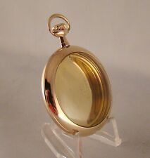 POCKET WATCH CASE WADSWORTH 10k GOLD FILLED OPEN FACE SIZE 12s