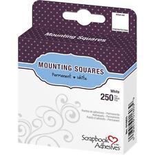 "Scrapbook Adhesives Mounting Squares 250/Pkg Permanent #1603 White .5""X.5"""