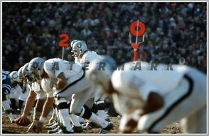 OAKLAND RAIDERS at BALTIMORE COLTS 1970 VINTAGE PRINT FROM NEGATIVE (4 sizes)