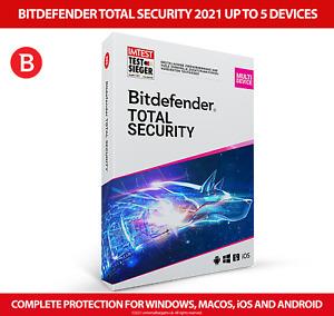 Bitdefender Total Security 2021 Multidevice 5 device FULL EDITION + VPN