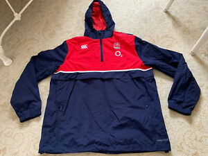 England Rugby Player Issue Waterproof Hoodie Hoody Training Top Size XXL 2XL