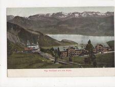 Rigi Kaltbad & Die Alpe Officielle Postcard Switzerland 391a