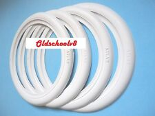 "USA Classic 15"" Whitewall Port-a-wall Tire Trim set 4Pcs VW Beetle Ford Chevy..."