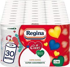 Regina di Cuori Carta Cucina | Confezione da 30 Rotoli | 50 fogli per...