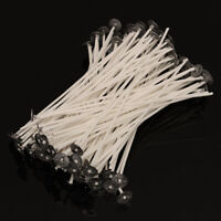 20Pcs Candle Wicks Cotton Core Waxed Wick With Sustainer For Candle Making DIY