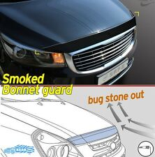 Acrylic Smoke Black Bonnet Hood Guard Garnish Deflector for KIA Sedona 2015~2017
