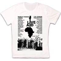 Live Aid Concert Music Event Live 1985 80s Gift Retro T Shirt 1685