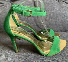 Ted Baker Ladies Sandals 8 Green Barely There High Heels Juliennas Worn Once