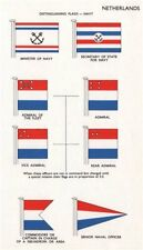 NETHERLANDS NAVY FLAGS. Minister/Secretary of State. Admiral Commodore 1958