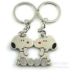 FD758 Cool Peanut Dog Keychain Keyring Keyfob Cute Creative Gift~1 Pair 2pc A